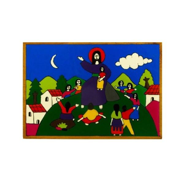 Jesus and Children hand painted plaque