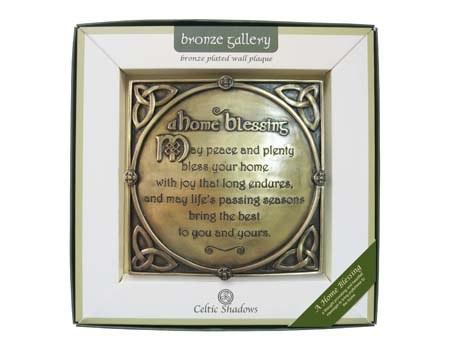 A Home Blessing Bronze Plaque