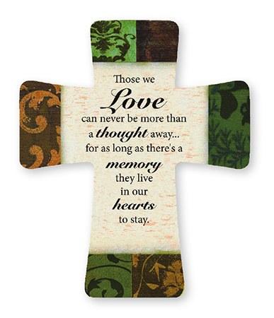 Those We Love Glazed Porcelain Cross (14cm)