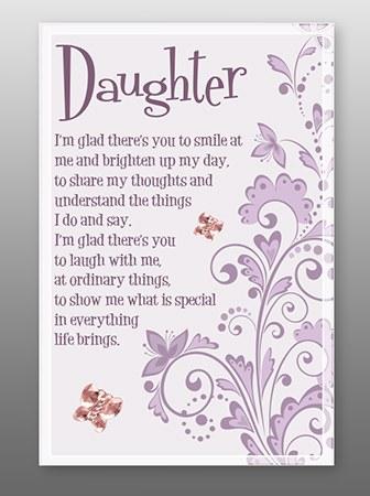 Daughter Glass Plaque 18 x 13cm