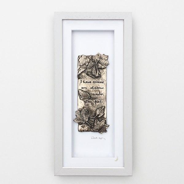 Tread Softly (Grey Frame) - Wild Goose Art (Lime)