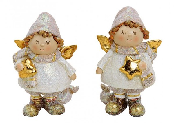 White and Gold Christmas Angel
