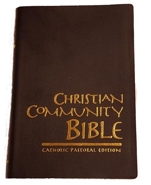 Christian Community Bible, Black, Vinyl Standard