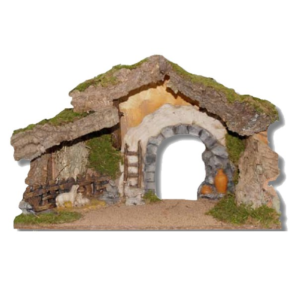 Nativity Shelter with Stone Effect Arch