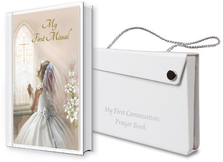 My First Communion Prayer Book Girl with Carrier Bag