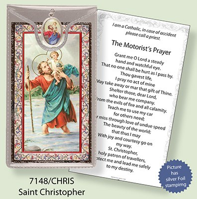 St Christopher Prayercard and Medal