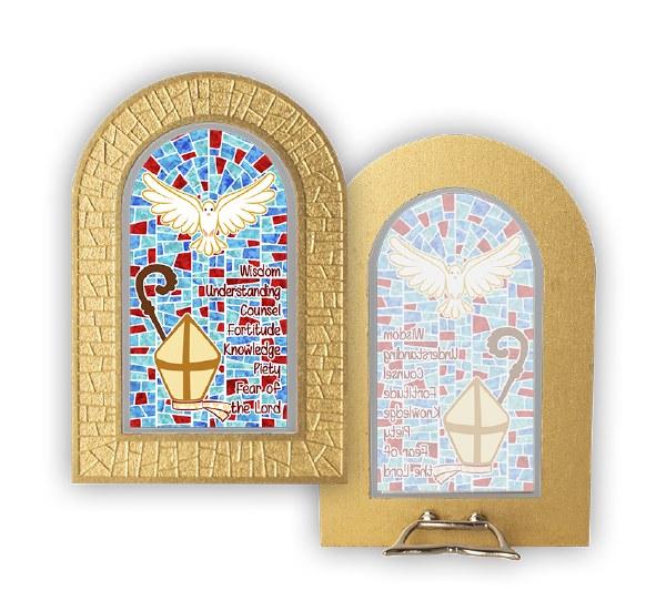 Confirmation Stain glass plaque 12cm