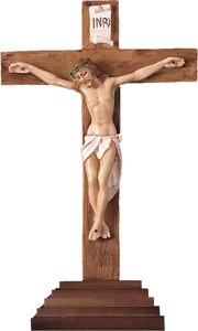 Standing Resin Crucifix (30cm)