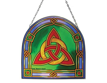 Trinity Knot Stained Glass Panel