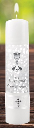 C86525 Firt Holy Communion candle 20cm
