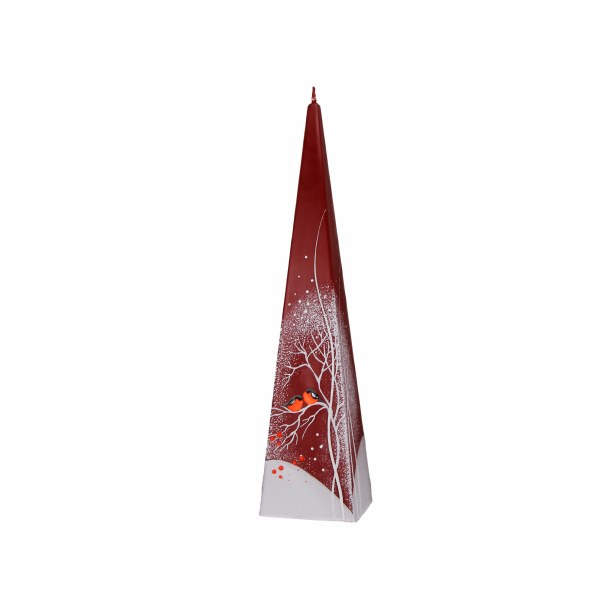Christmas Robins Pyramid Candle (25cm)