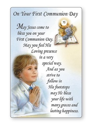 Boy First Holy Communion Prayer Card