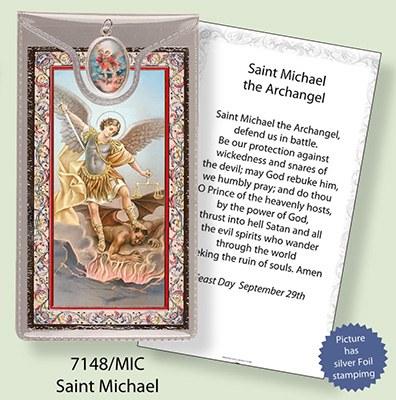 St Michael Prayercard and Medal