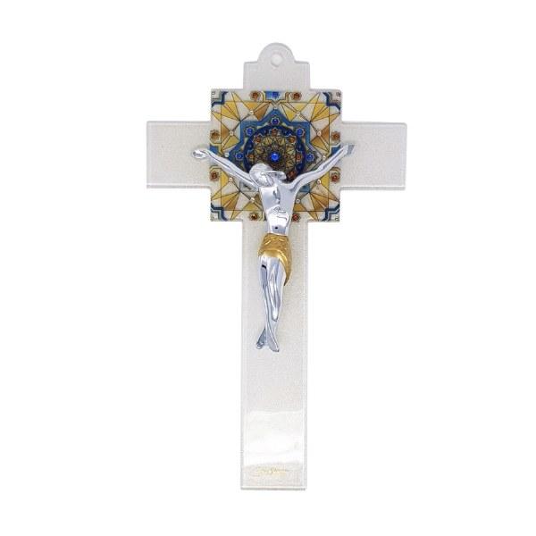 Caravaggion Murano Glass Crucifix (34cm)