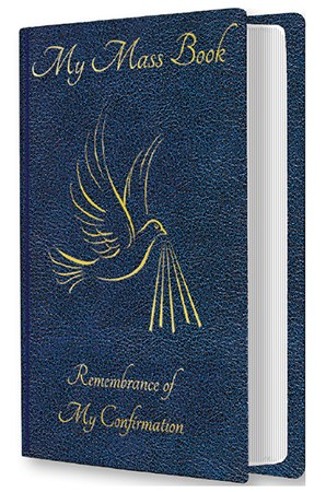 Blue Souvenir of Confirmation Mass Book