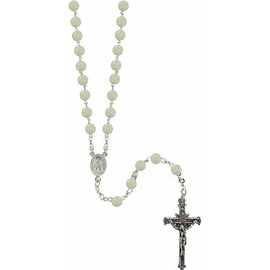 Mother of Pearl Sterling Silver Rosary Bead