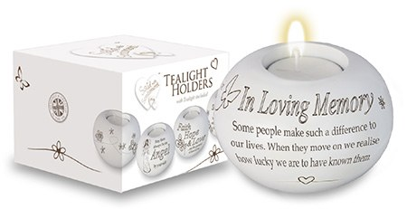 In Loving Memory Candle Holder with Tealight