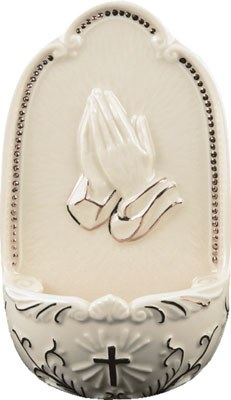 Praying Hands Holy Water Font