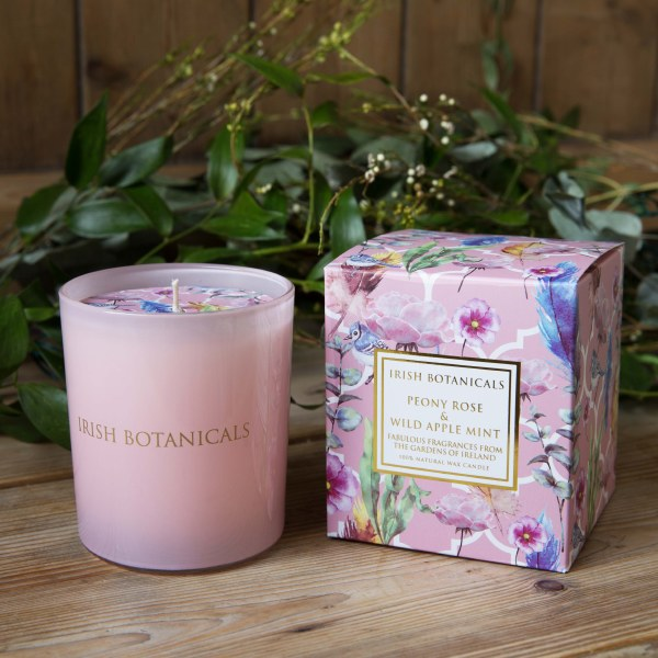 Peony and Wild Apple Mint Scented candle