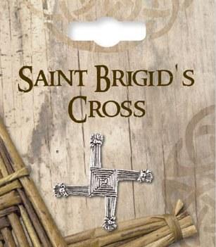 St Bridget Silver Cross Brooch