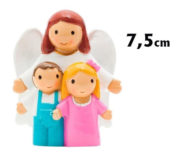Guardian Angel with Children Statue (7.5cm