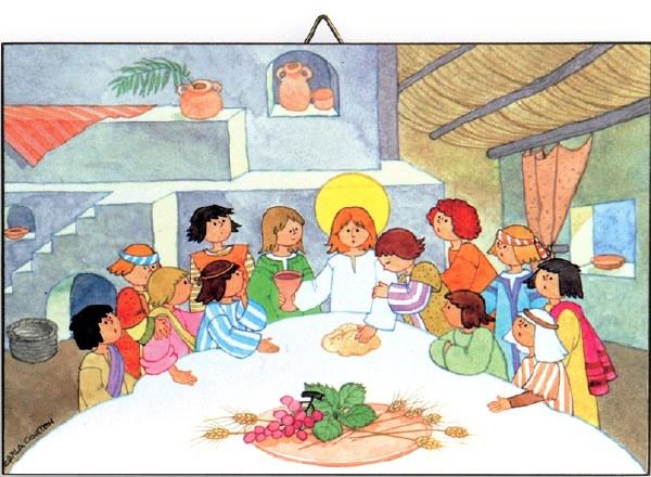 Children's Last Supper plaque