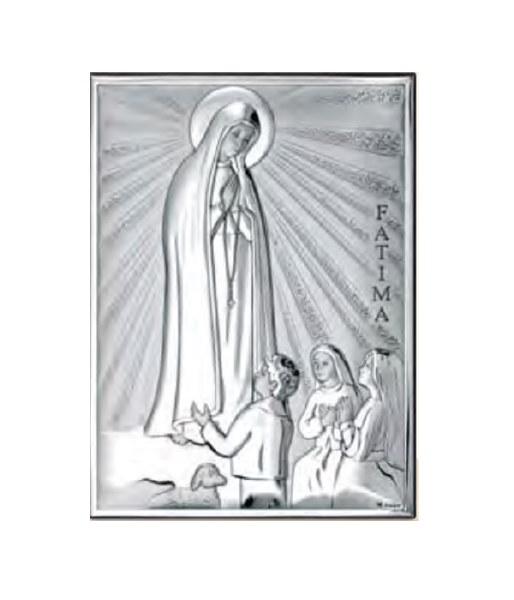 Our Lady Fatima Silver Icon (18 x 13 cm)