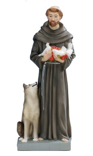 St Francis Unbreakable Resin Statue (60cm)