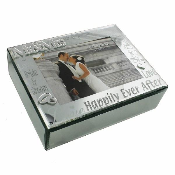 Mr and Mrs Mirror Wedding Keepsake Box