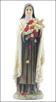 "Veronese Resin Statue 8"" St Theresa"