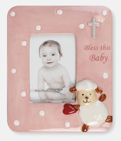 Pink New Born Baby Lamb Photo Frame