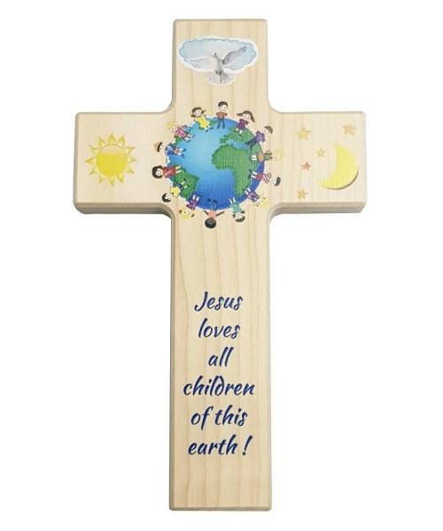 Children Of The World Wooden Cross (20cm)