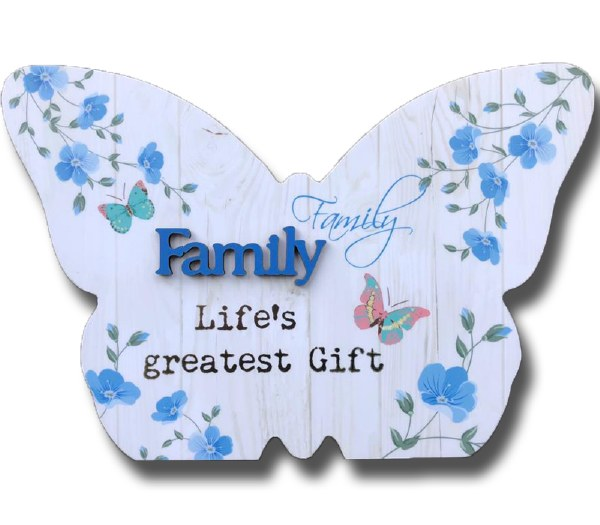 Family Blooms Butterfly Plaque