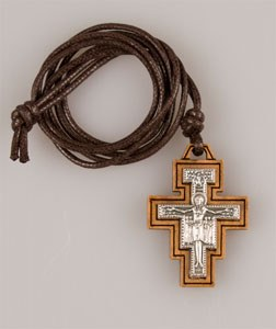 St Francis Cross on 71 cm Cord