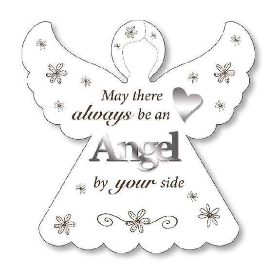 Angel Wood Plaque