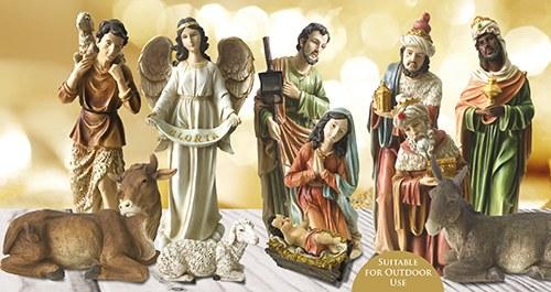 Adeste Fideles Outdoor Nativity Set (60cm)