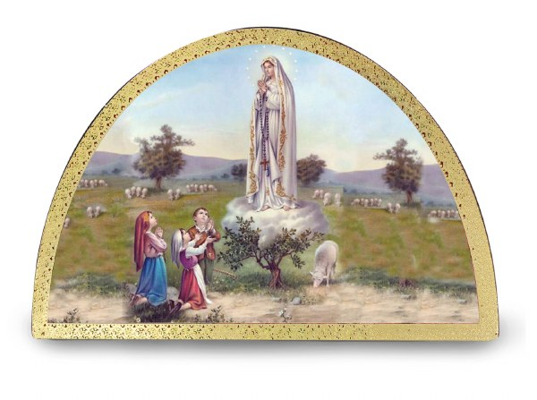 Apparition of Fatima Arch Plaque