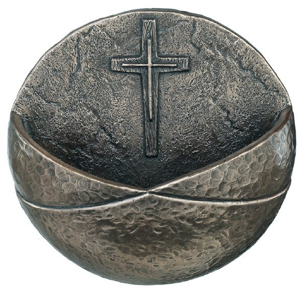 Christian Cross Holy Water Font - Genesis