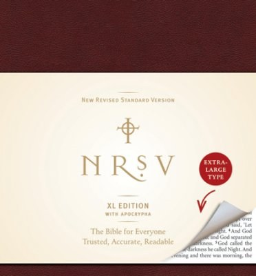 NRSV XL Bible with the Apocrypha, Imitation Leather, burgundy