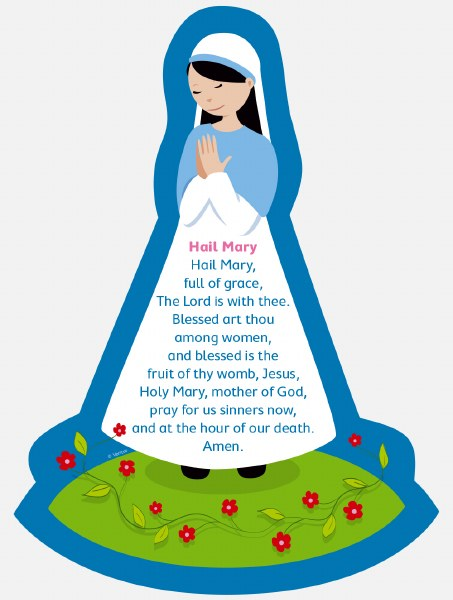Hail Mary Grow in Love Plaque 34 x 24 cm