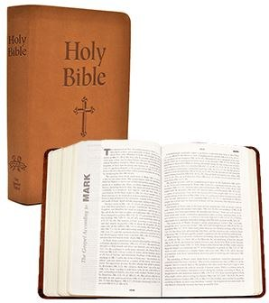 NABRE Catholic Gift Bible, Brown imitation leather