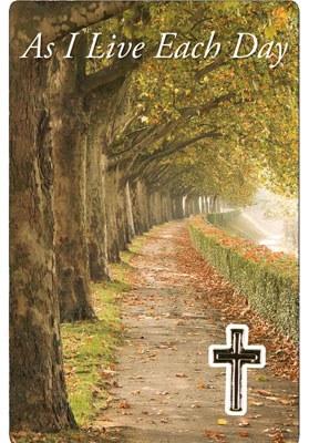 As I Live Each Day Prayercard