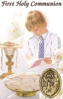 Boy First Holy Communion Prayercard