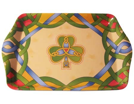 Irish Weave Shamrock Tea Tray