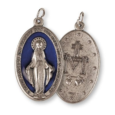 Large Blue Miraculous Medal