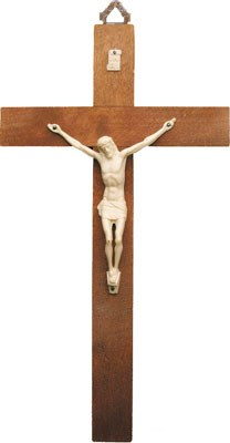 10 Inch Wooden Crucifix (25cm)
