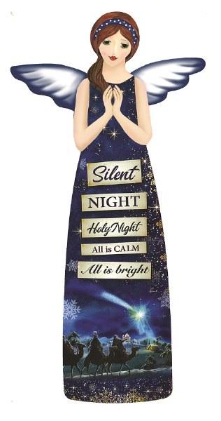 Silent Night Glazed Porcelain Angel (24cm)