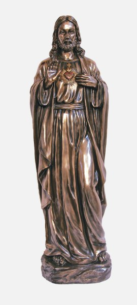 Large Sacred Heart of Jeses Bronze Statue (102cm)