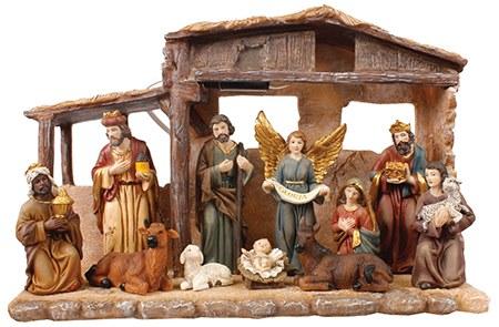 Fixed Nativity Scene with Light