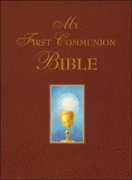 My First Communion Bible, burgundy, padded, gilt